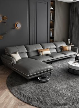 宜家布艺沙发客厅现代简约小户型北欧轻奢科技布转角贵妃乳胶组合