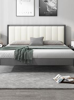 现代北欧卧室1.8米双人床简约实木床网红经济型主卧1.5米家具床
