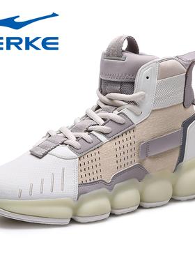 鸿星尔克运动鞋男士休闲鞋冬季2020新款高帮加厚保暖板鞋潮流男鞋