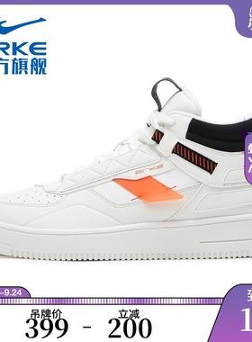 鸿星尔克运动鞋男2020秋冬季新款男鞋休闲鞋加绒保暖时尚高帮板鞋