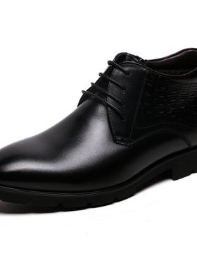 金利来男鞋2019冬季新款专柜正品系带厚底加绒保暖靴子真皮棉鞋男