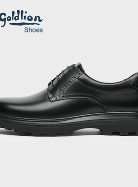 金利来男鞋 2021新款冬季商务休闲皮鞋男士加绒保暖厚底皮鞋真皮