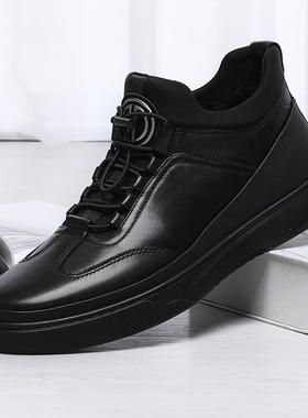 金利来男鞋2020冬季保暖加绒短靴真皮厚底棉鞋休闲鞋男227940002