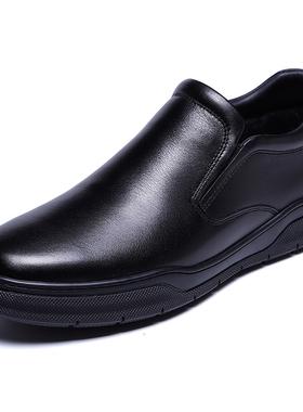 金利来男鞋2020冬季新款专柜正品鞋加绒套脚商务休闲皮鞋男棉鞋