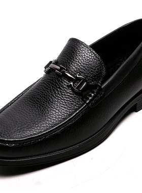 金利来男鞋2019冬季新款专柜正品鞋真皮加绒商务休闲皮鞋男皮棉鞋