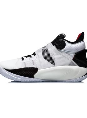李宁2021夏季新款篮球男鞋音速9代回弹防滑耐磨高帮运动鞋ABAR011