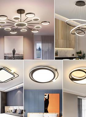 2020新款轻奢客厅吊灯具北欧后现代简约大气书房餐厅卧室分子灯饰