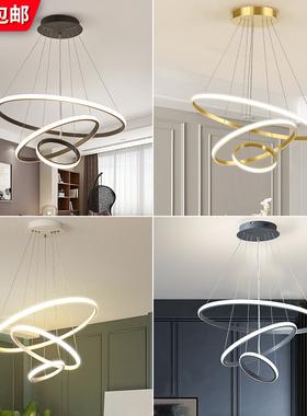 LED吸顶灯卧室餐厅灯 简约现代创意个性网红灯具北欧吧台客厅吊灯