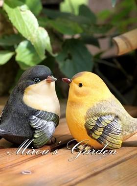 包邮创意家居客厅户外装饰花园庭院可爱礼物仿真小鸟树脂动物摆件