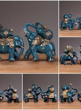 泰国招财吸财吸水镇宅大象客厅一对象摆件工艺装饰品家居小象摆设