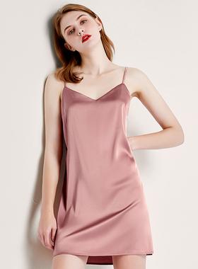 夏季冰丝女睡裙夏天薄款丝绸吊带性感睡衣火辣可外穿春秋家居服