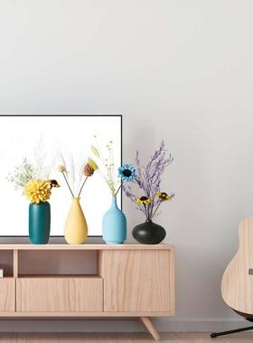 简约现代小花瓶创意插花器餐桌电视柜软装家居陶瓷摆件干花装饰品