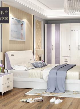 卧室成套家具组合现代简约床衣柜梳妆台家具套装组合卧室五六件套