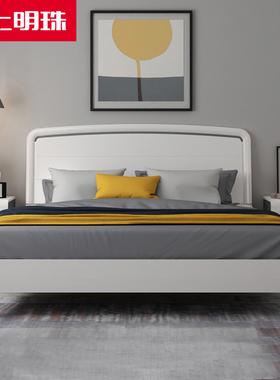 掌上明珠1.8米烤漆床卧室1.5米板式单双人床成套家具高箱床储物62