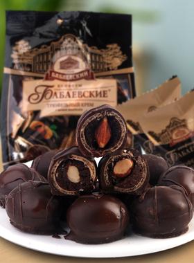临期22.2月包邮俄罗斯进口巴巴耶夫杏仁松露奶油巧克力糖果零食品
