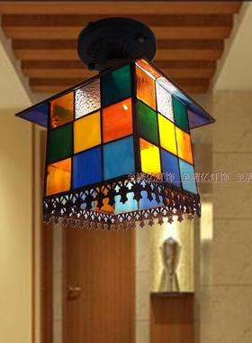 北欧风灯具家装小房子吸顶灯玄关过道阳台地中海吸顶灯厨房吧台