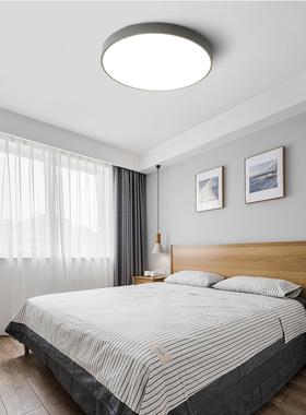 led吸顶灯卧室灯 简约现代圆形灯温馨浪漫灯具卧室家装顶灯房间灯