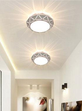 过道灯走廊灯入户玄关灯LED筒灯阳台灯现代简约轻奢家装灯彩色灯
