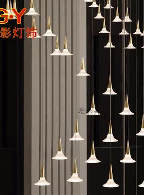 复式楼楼梯吊灯家装客厅灯别墅大厅灯售楼部沙盘装饰灯过道灯定制