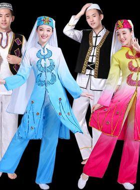 东乡族撒拉族回族舞蹈服装女成人宁夏少数民族穆斯林节日礼拜服饰