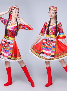 新款少数民族服装蒙古服饰女成人西藏广场舞水袖藏族舞蹈演出服装