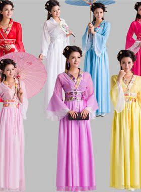 戏曲服装花旦 越剧戏服 古代衣服 水袖古典舞蹈古装仙女演出服饰