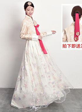 韩服女士韩国传统服饰宫廷结婚朝鲜民族表演舞台舞蹈演出古装套装