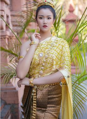 傣王妃服饰泰国传统服装女套装傣族泼水节盛装迎宾服工作服影楼服