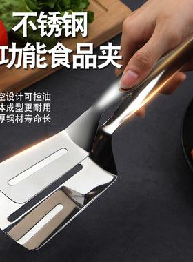 不锈钢食品夹子煎牛排夹食物烤肉厨房面包夹手抓饼铲子烧烤夹防烫