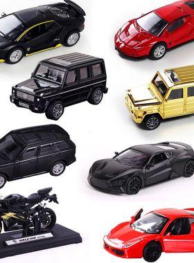 黑色合金汽车模型蛋糕装饰摆件插件跑车G63越野车回力男神过生日