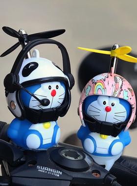 网红小黄鸭车载摆件电瓶车头盔电动摩托车自行车装饰品汽车小配件