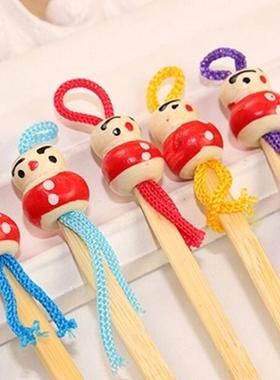 可爱木质木头掏耳勺 掏挖耳朵 中国娃娃造型 挖耳勺 个人清洁护理