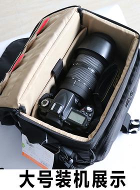 宝罗D4s摄影包 单肩专业大容量单反相机包1Dx数码包防水斜跨
