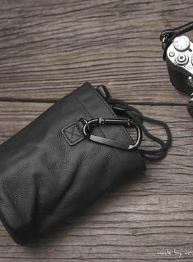 MrStone数码胶片相机收纳包内胆圆筒袋复古文艺真牛皮微单保护套