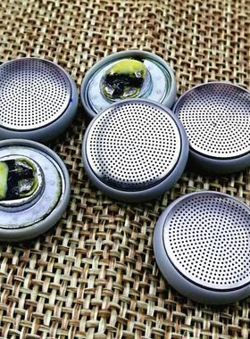原装耳机单元 破音的 金属面盖 15.4mm  拆机面盖  音睿数码