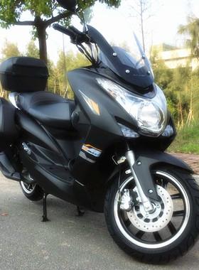 宏图踏板摩托车国4全新燃油整车鸿图机车150CC大型跑车电喷可上牌