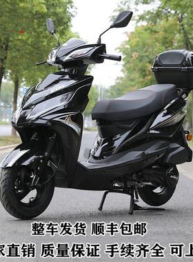 新款国四电喷踏板摩托车燃油车125CC踏板车男女款可上牌整车包邮