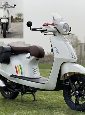 改装Vespa复古踏板车比亚乔款125摩托车国四电喷燃油车整车可上牌