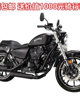 全新义骑V8太子摩托车重机车仿哈雷883V缸250油冷电喷整车可上牌