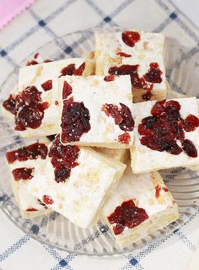 雪花酥牛轧糖蔓越莓休闲小吃网红自制奶芙沙琪玛饼干零食品散装