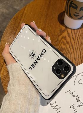 高级感玻璃小香风12Pro Max苹果11手机壳大牌XS MAX硅胶XR全包防摔iPhoneX网红新款7/8plus女神款超火ins女款