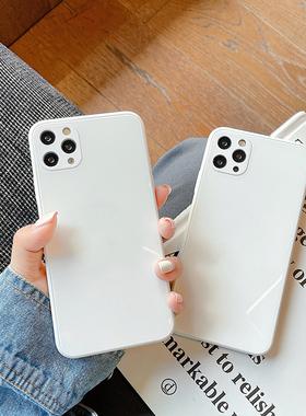 小香风玻璃苹果12手机壳液态硅胶iPhone12promax新款8plus适用苹果11大牌xr全包防摔x/xs max女款7p高级感pro