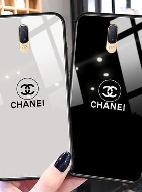 大牌奢华oppor17手机壳r17pro镜面玻璃r11新款r11s硅胶plus全包防摔r15梦境版小香风女款高级感潮牌k3保护套