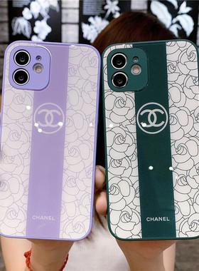 欧美奢华大牌12Pro Max适用苹果11手机壳硅胶XS MAX全包iPhoneX防摔XR高级感7/8plus新款mini网红女款小香风
