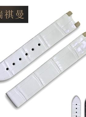 瑞祺曼鳄鱼皮表带代用OMEGA欧米茄碟飞表带425.33 女士凹口定制