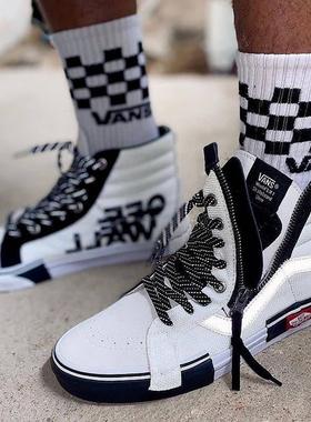 VANS范斯SK8-Hi高帮解构3M反光logo白色男鞋棋盘女鞋VN0A3WM1TUU