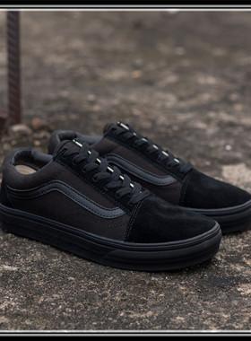 万斯帆布鞋低帮黑武士男鞋高帮海军蓝板鞋女鞋经典复古黑白休闲鞋