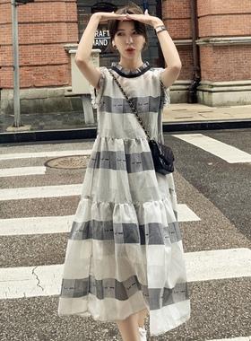 2021新款雪纺连衣裙女夏装法式宽松显瘦气质无袖炸街两件套长裙子