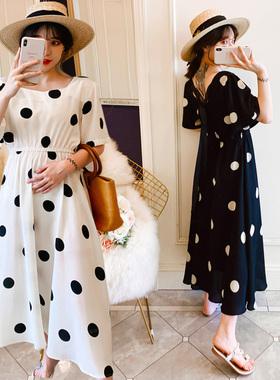 孕妇连衣裙雪纺夏装2021春夏季新款中长款大码宽松显瘦超仙女裙子