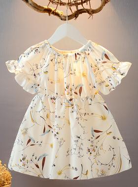 女童雪纺连衣裙 2020夏装新款童装收腰1-7岁淑女公主裙宽松